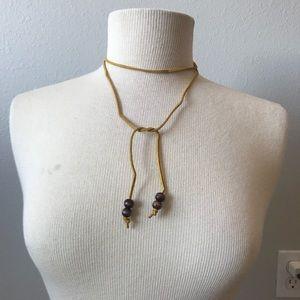 Genuine leather boho choker minimalist necklace